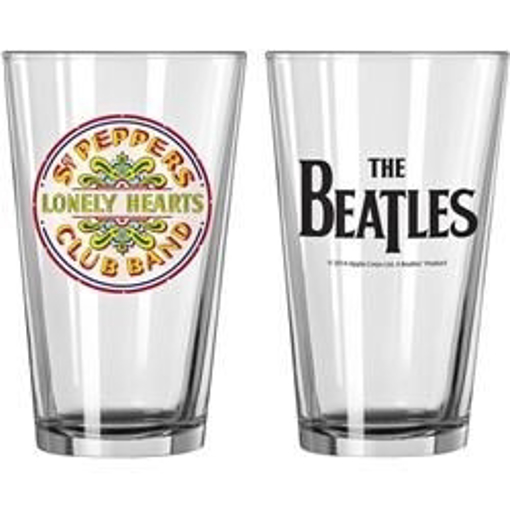 Picture of Beatles Glass: Beatles Sgt. Pepper's Pint Glass