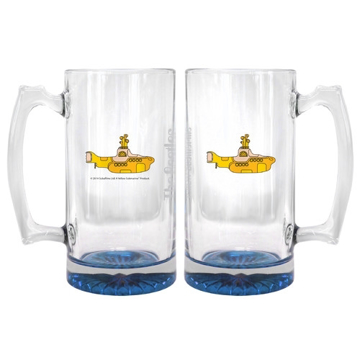 Picture of Beatles Glass: 25 oz Yellow Submarine Beer Mug