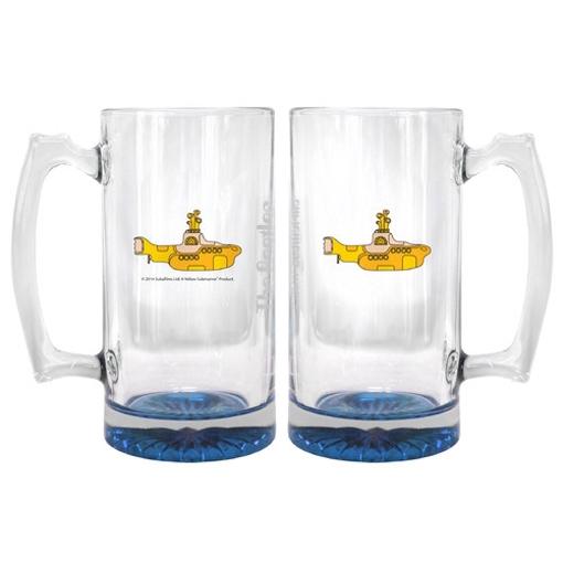 Picture of Beatles Glass: 25 oz Yellow Submarine Beer Mug