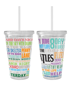 "Picture of Beatles Cup: The Beatles ""Hits"" 16 oz. Plastic Tumbler"