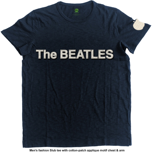 Picture of Beatles Adult T-Shirt: Logo & Apple