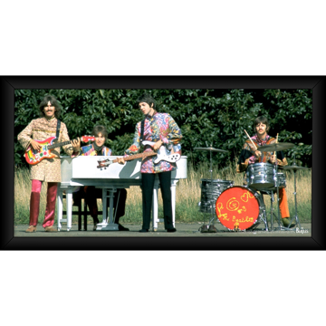 Picture of Beatles ART: The Beatles 1967 'Love the Beatles' 10x20 Framed Photo