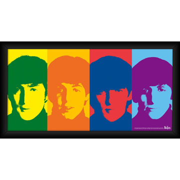 Picture of Beatles ART: The Beatles 1964 'Color Head Shots' 10x20 Framed Photo