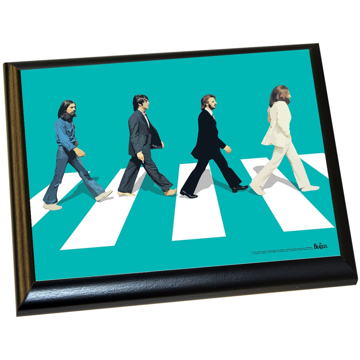 Picture of Beatles ART: The Beatles 'Abbey Road Blue Background' 8x10 Plaque