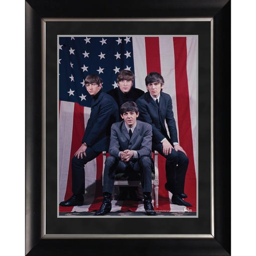 Picture of Beatles ART: The Beatles 'American Flag Group Shot' 11x14 Framed Photo