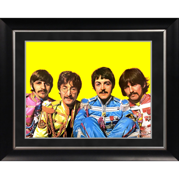Picture of Beatles ART: The Beatles 'Sgt. Pepper Lonely Hearts Costumes' 11x14 Framed Photo