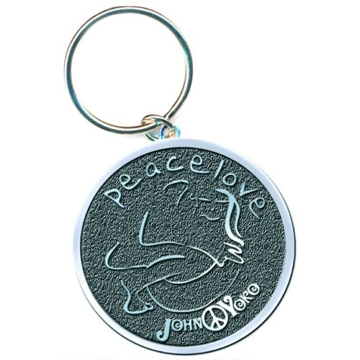 "Picture of Beatles Key Chain: John Lennon ""Peace & Love"""