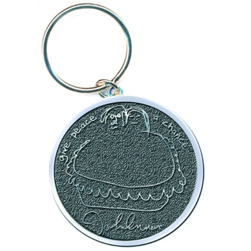 """Picture of Beatles Key Chain: John Lennon """"Give Peace a Chance"""""""