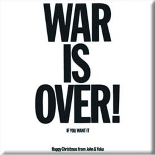 "Picture of Beatles Magnet: John Lennon ""War is Over!"""