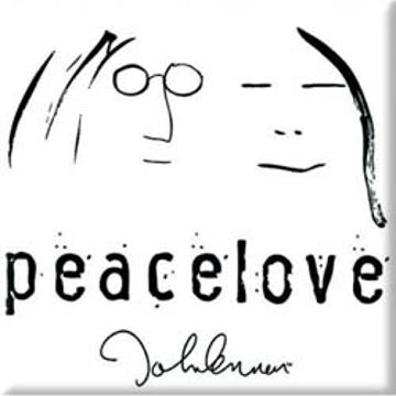 "Picture of Beatles Magnet: John Lennon ""Peace Love"""