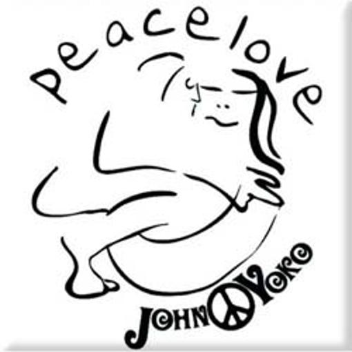"""Picture of Beatles Magnet: John Lennon """"Cuddle Black on White"""""""
