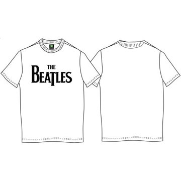 Picture of Beatles Adult T-Shirt: Classic Drop T Logo on White Shirt