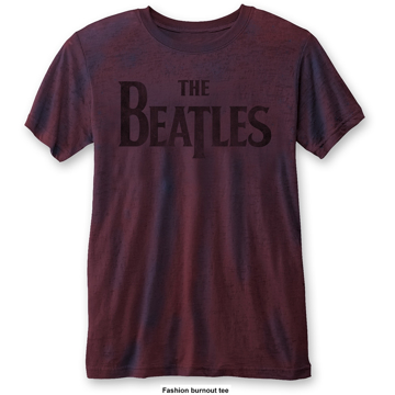 Picture of Beatles Adult T-Shirt: Drop T (Burn Out)