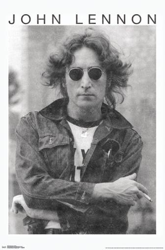 Picture of Beatles Poster:  John Lennon - Smoke