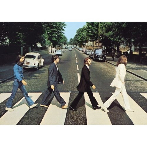 """Picture of Beatles Postcard Card: The Beatles """"Abbey Road Crossing"""" (Standard)"""