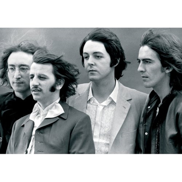 "Picture of Beatles Postcard Card: The Beatles ""Windswept Portrait"" (Standard)"