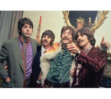 "Picture of Beatles Postcard Card: The Beatles ""Sgt. Pepper Launch"""