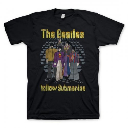 Picture of Beatles Adult T-Shirt: Yellow Submarine Groovy Holes