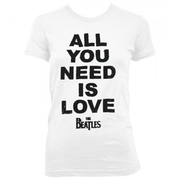 Picture of Beatles Jr's T-Shirt: All You Need is Love Bold on White