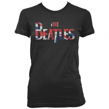 Picture of Beatles Jr's T-Shirt: British Flag inside Drop T Logo