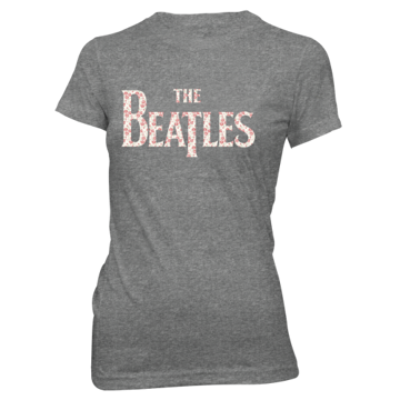 Picture of Beatles Jr's T-Shirt: Flowers inside Drop T Logo