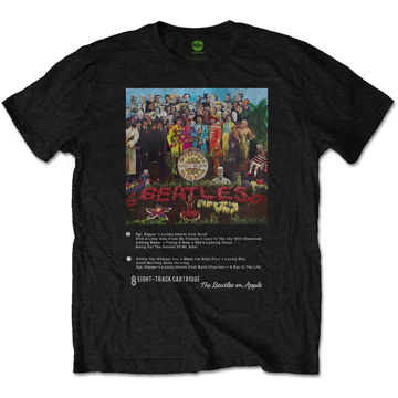 Picture of Beatles Adult T-Shirt: Beatles 8 Track Sgt Pepper Cover