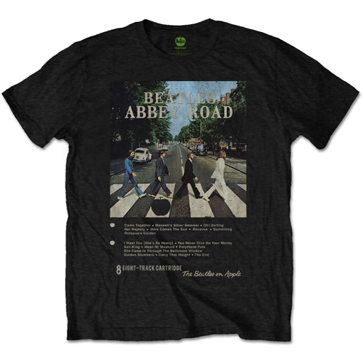 Picture of Beatles Adult T-Shirt: Beatles 8 Track Abbey Road Cover