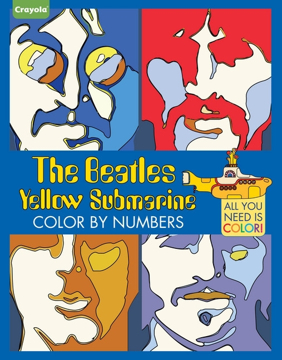 Picture of Beatles Coloring Book:  Crayola The Beatles Yellow Submarine Color by Numbers