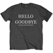 """Picture of Beatles Adult T-Shirt: Beatles Song Lyric Edition """"Hello - Goodbye"""""""