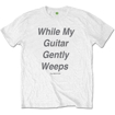 """Picture of Beatles Adult T-Shirt: Beatles Song Lyric Edition """"While My Guitar Gently Weeps"""""""
