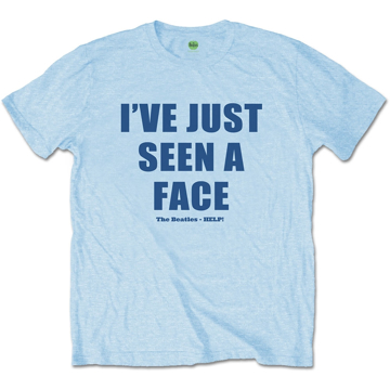 "Picture of Beatles Adult T-Shirt: Beatles Song Lyric Edition ""I've Just Seen A Face"""