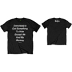 "Picture of Beatles Adult T-Shirt: Beatles Song Lyric Edition "" 'Everybody's Got Something to Hide Except Me And My Monkey"""