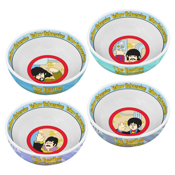 Picture of Beatles Bowl: Yellow Submarine 4 pc. 6 in. Ceramic Bowl Set