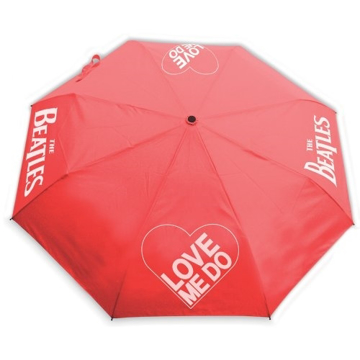 "Picture of Beatles Umbrella: ""Love Me Do"" Umbrella in Red"