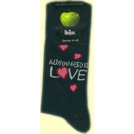Picture of Beatles Socks: Women's All You Need Is Love (Black)