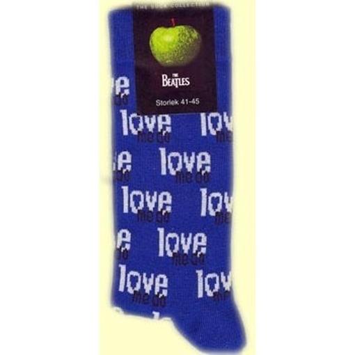 Picture of Beatles Socks: Women's Love Me Do (Blue)