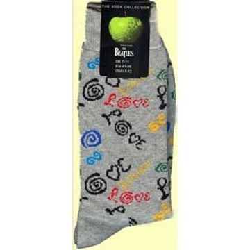 Picture of Beatles Socks: Men's Love (Grey)