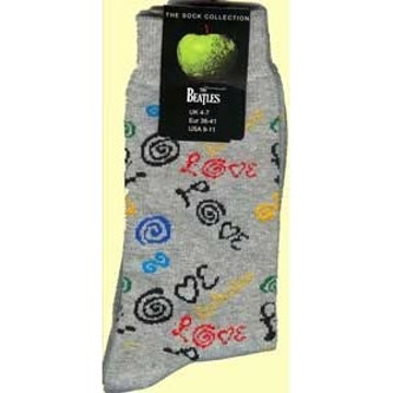 Picture of Beatles Socks: Women's Love (Grey)