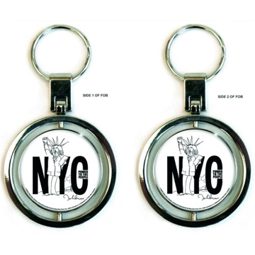 Picture of John Lennon Spinner Keychain: Power to the People
