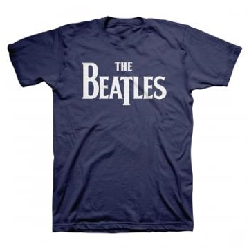 Picture of Beatles Adult T-Shirt:; Classic Drop-T Navy Blue