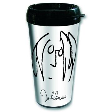 """Picture of John Lennon Travel Mug: """"Self Portrait"""""""
