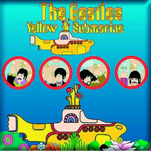 Picture of Beatles Magnet: Yellow Submarine Portholes