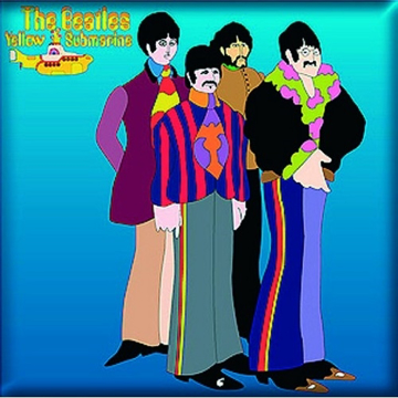 Picture of Beatles Magnet: Yellow Submarine Sea of Science