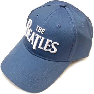 Picture of Beatles Cap: The Beatles Drop T Logo  (Denim Blue)
