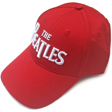 Picture of Beatles Cap: The Beatles Drop T Logo  (Red)