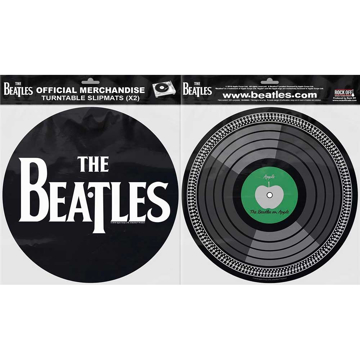 Picture of Beatles Slipmat Set: Drop T Logo & Apple Record