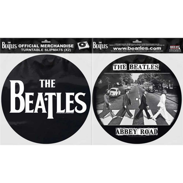 Picture of Beatles Slipmat Set: Drop T Logo & Abbey Road