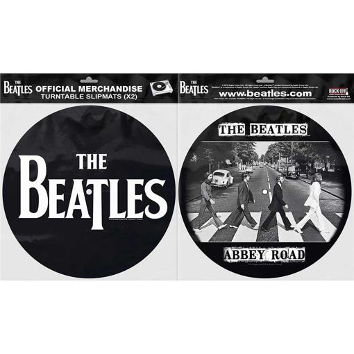 Picture of Beatles Slipmat Set: Drop T Logo & Abbey Road