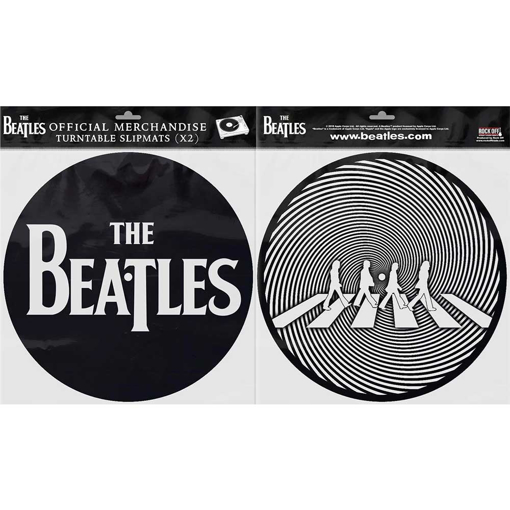 Picture of Beatles Slipmat Set: Drop T Logo & Crossing Silhouette