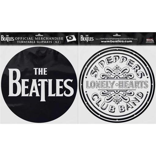 Picture of Beatles Slipmat Set: Drop T Logo & Sgt. Pepper Drum